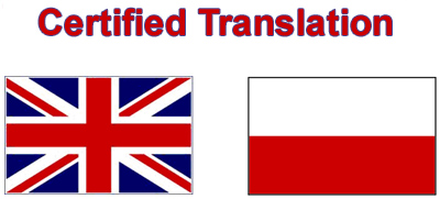 Certified translation into Polish